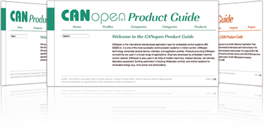 CAN in Automation (CiA): CiA 402 series: CANopen device profile for